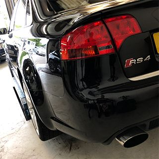 Audi RS4 in for Servicing at TC Garage
